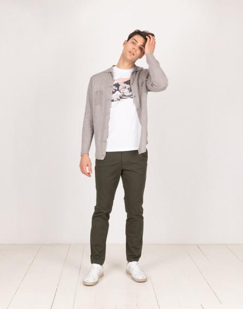 Cardigan in lino grigio