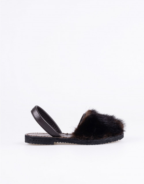 Mink brown fur minorchina