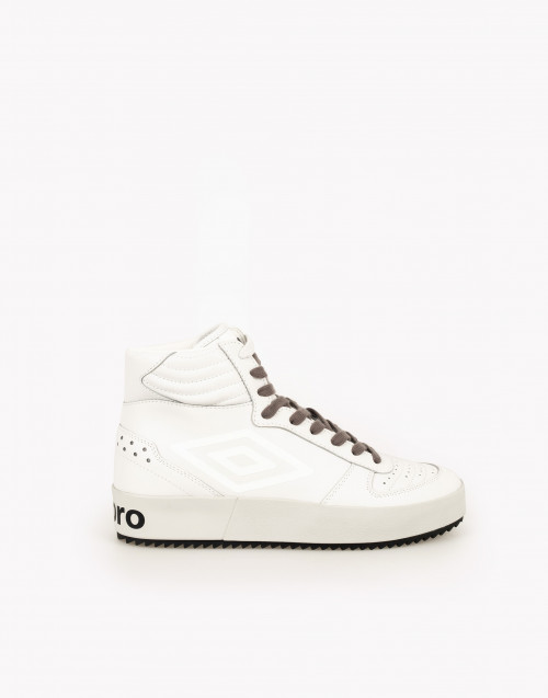 Sneakers high-top pelle bianca