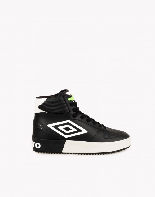 Sneakers high-top pelle nera
