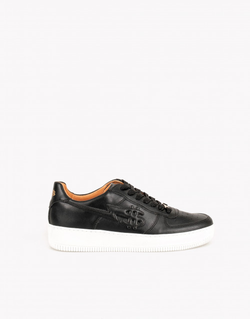 George V sneakers in black leather