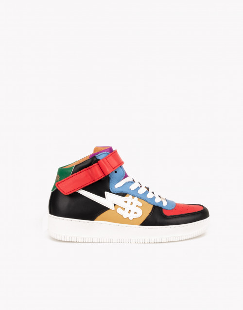 Sneakers George V Peace pelle colorata