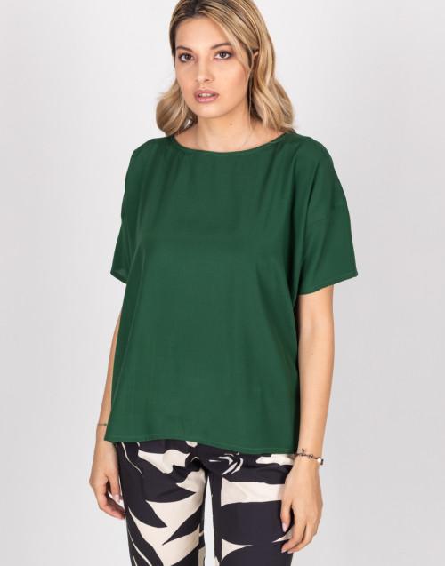Blusa in raso verde