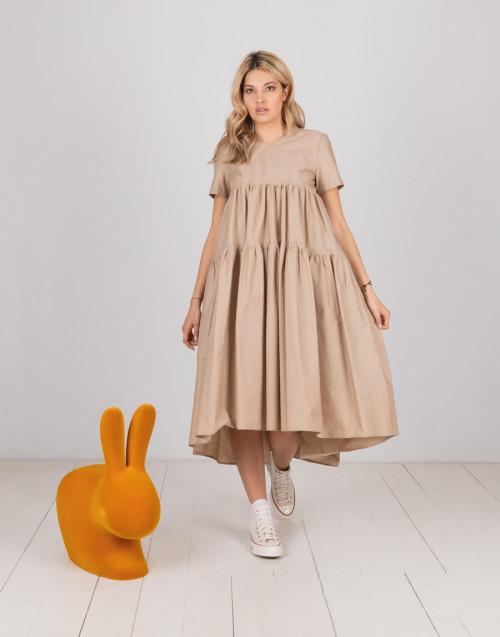 """Beige smock dress """"Lola"""""""