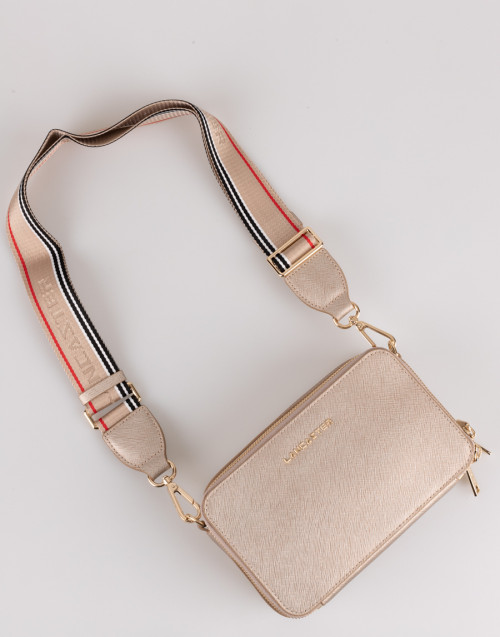 Champagne saffiano shoulder bag
