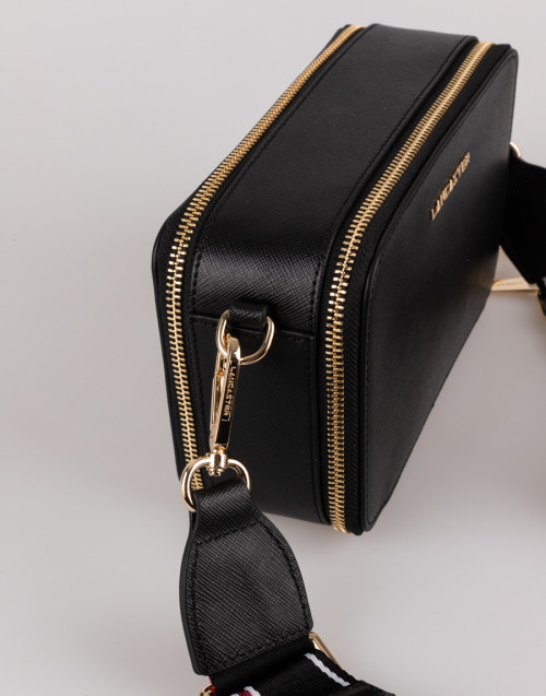 Black saffiano shoulder bag