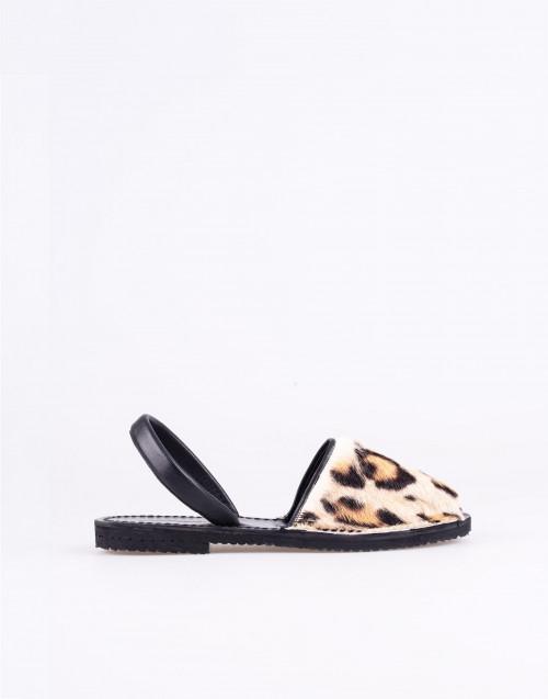 Mink leopard fur sandal minorchina