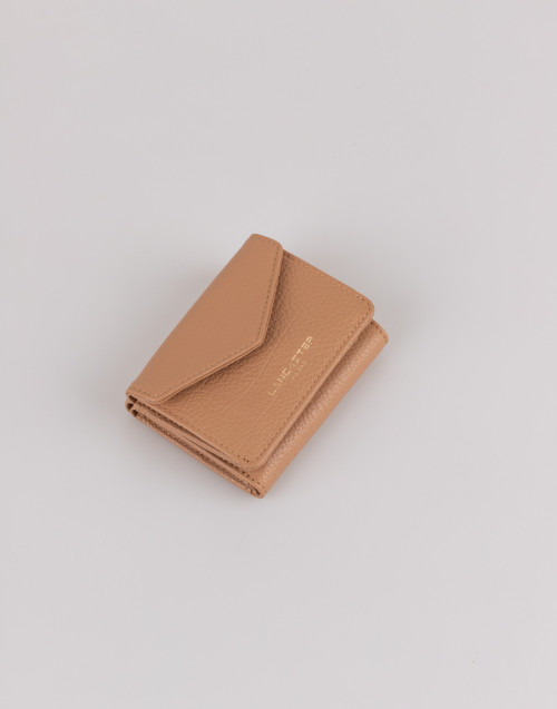 Beige mini wallet