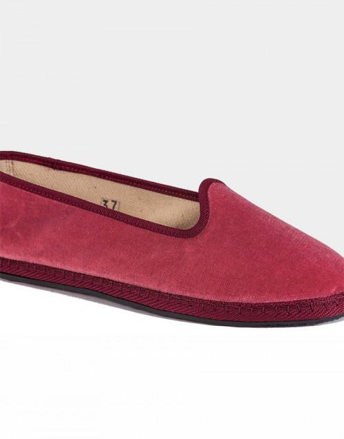 Marie Antoinette dusty pink velvet slippers