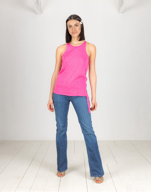 Pink lurex top