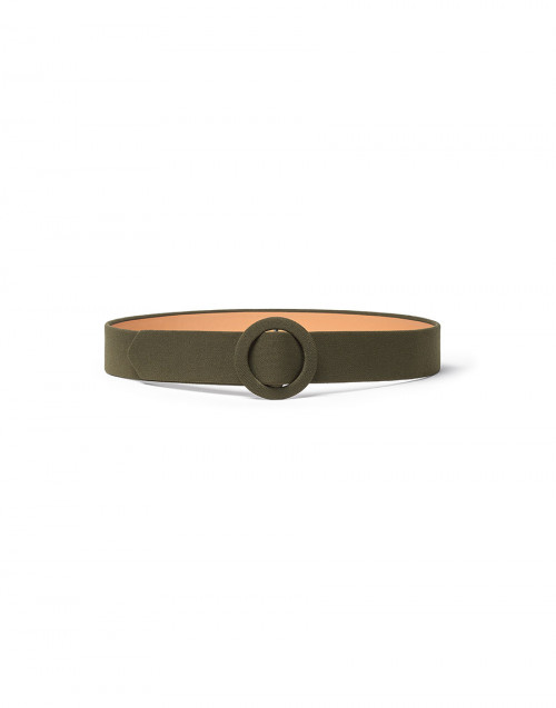Forest green belt with round buckle
