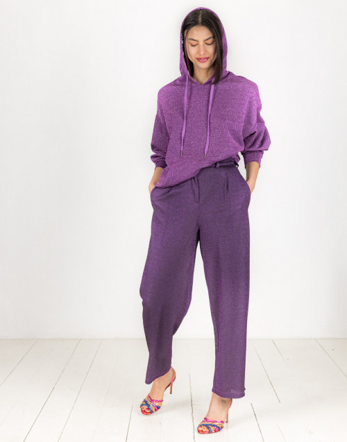 Purple lurex trousers