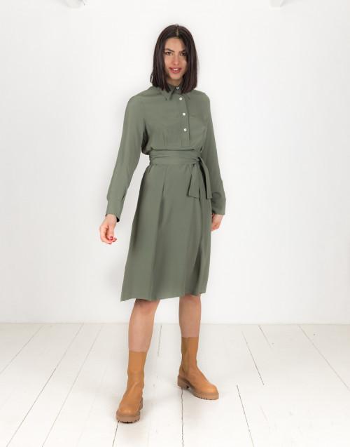Sage green midi dress