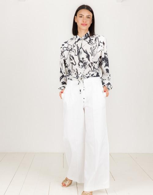 Pantalone bianco palazzo