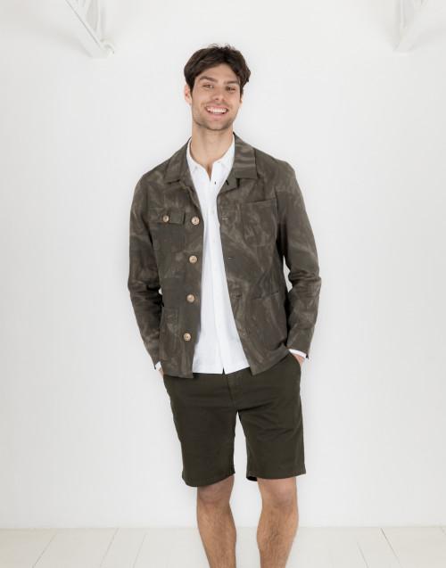 Camouflage seersucker jacket
