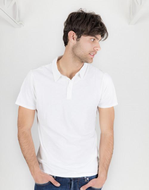 Polo bianca in cotone