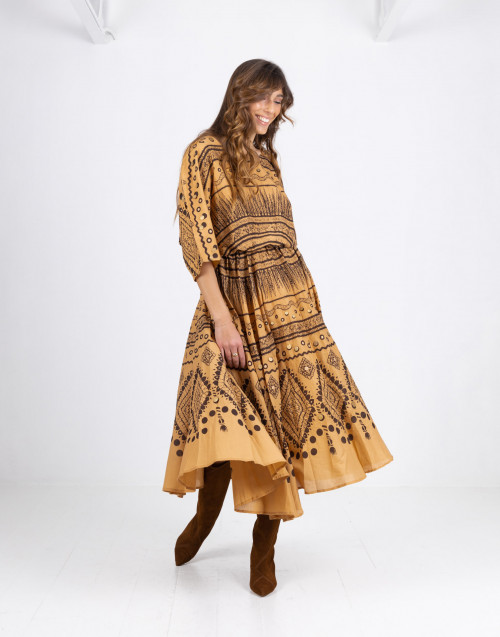Amitola ethnic ocher dress