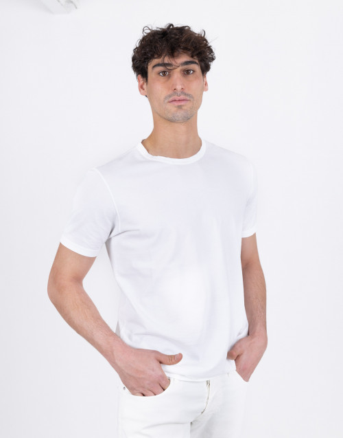 T-shirt bianca in cotone