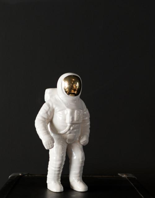Astronauta Ceramica Bianca Oro
