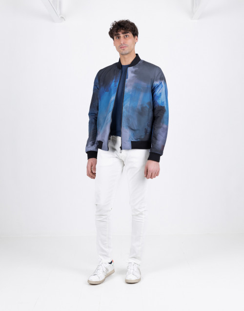 Reversible black blue bomber