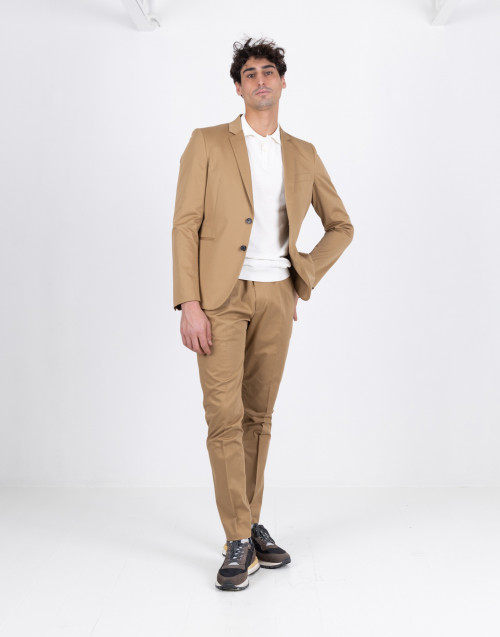 Pantalone beige in cotone