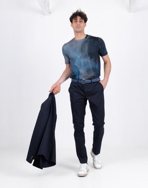 Pantalone blu in cotone