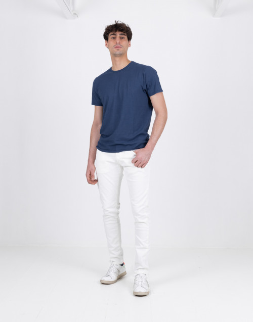 Dylan slim fit white jeans