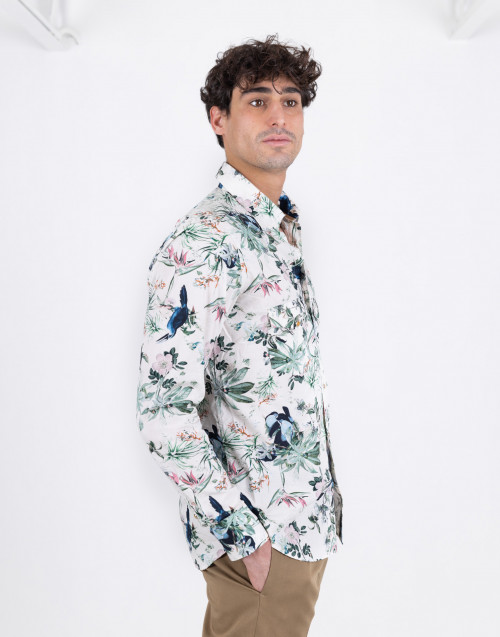 Texan shirt with floral pattern