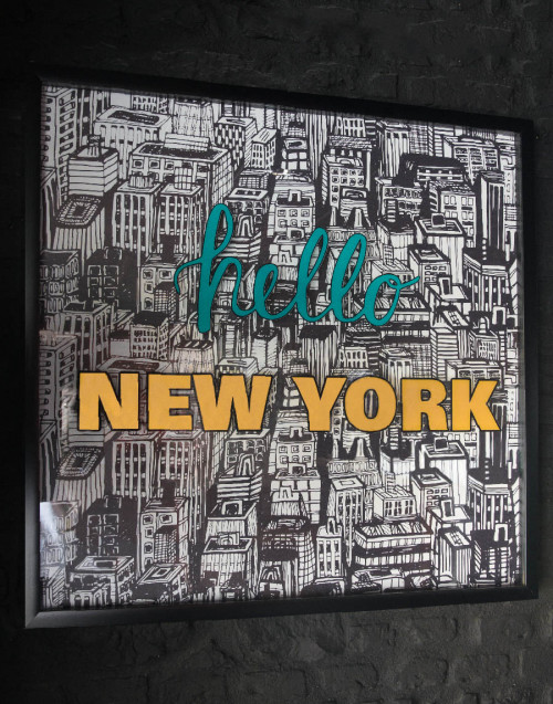 Print painting hello New York