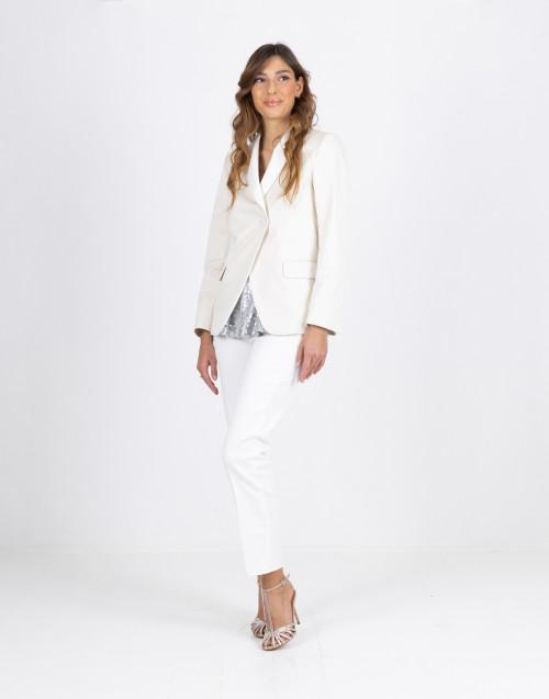 Blazer bianco in cotone