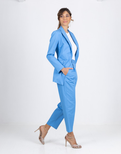 Light blue cotton trousers