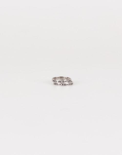 """Coppia di anelli """"Love is..."""" argento"""