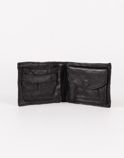 Black horizontal wallet with credit card holder