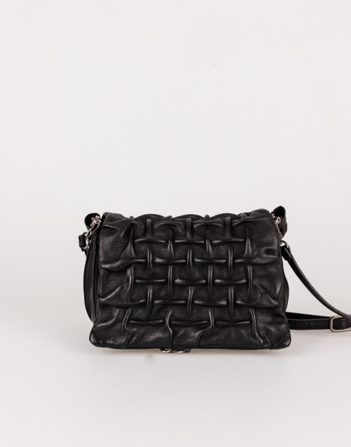 Black bag with grate pattern