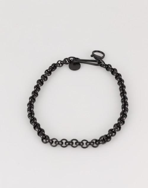 Catena nera con perle