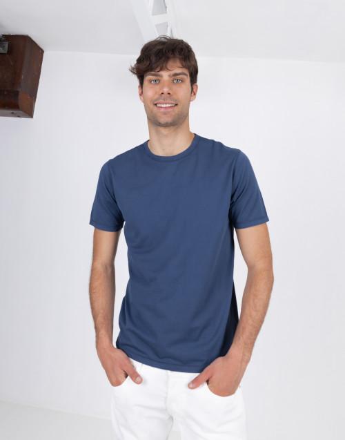 T-shirt cotone sottile blu