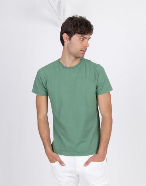 Blue flamed cotton t-shirt