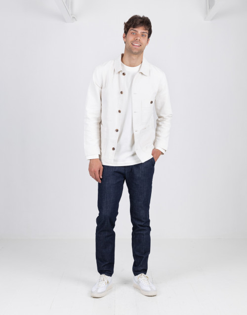 White cotton overshirt