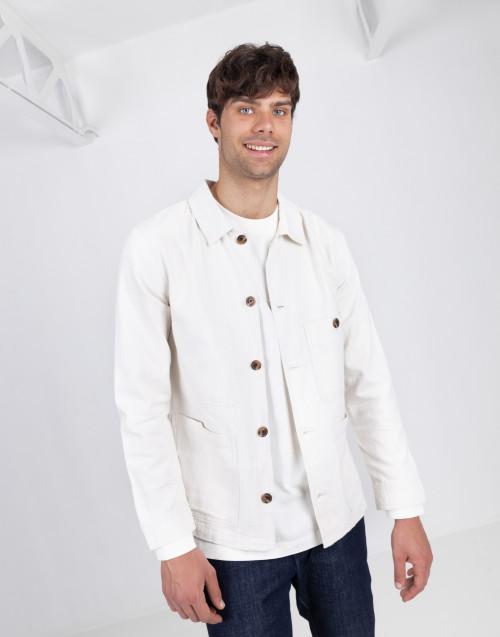 White cotton overshirt