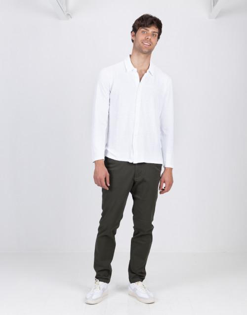 Cardigan bianco in lino