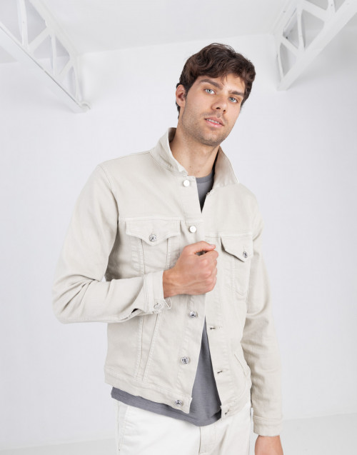 Beige denim overshirt