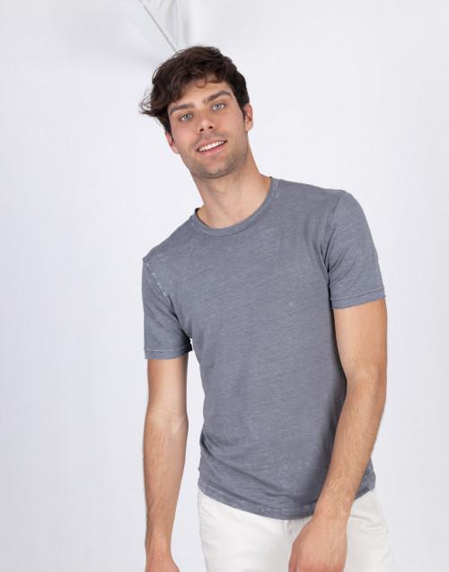 Gray linen t-shirt