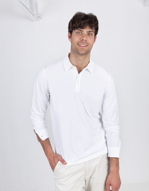 White ice cotton polo shirt