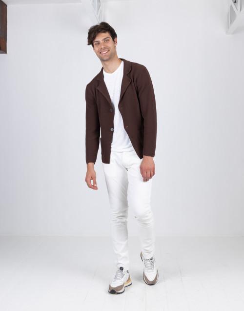 Cardigan marrone in cotone