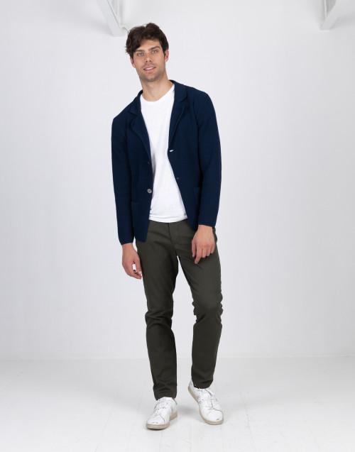 Cardigan blu in cotone