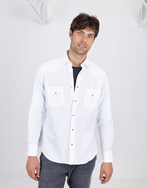 White Texan cotton shirt