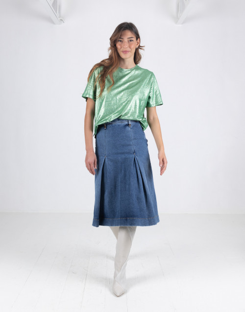 Vintage denim skirt in dark denim