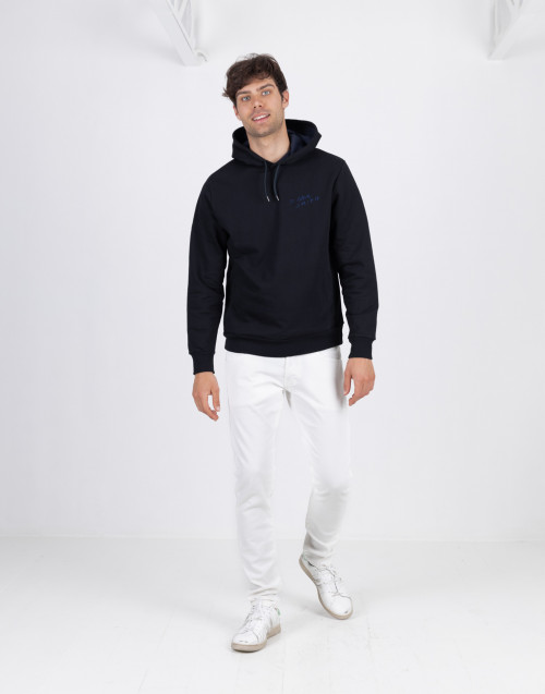 Black sweatshirt with back print