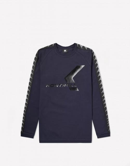 T-shirt manica lunga blu