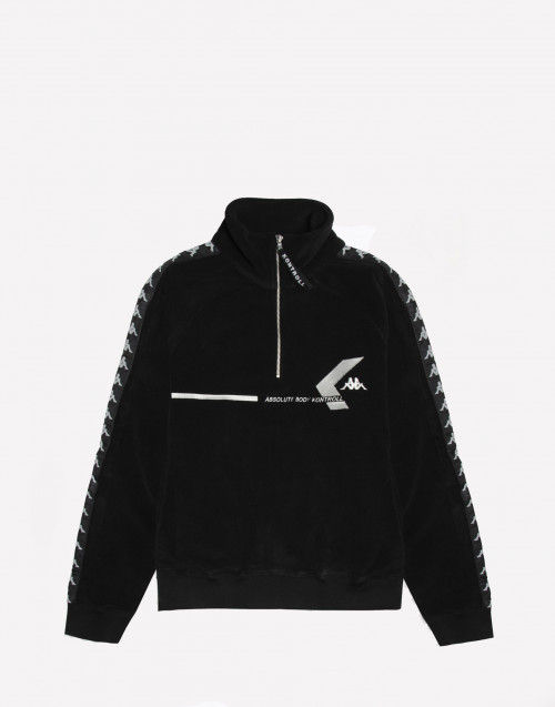 Fleece black sweatshirt